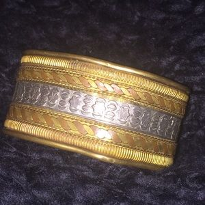 Super Vintage Brass/Copper/Sterling Cuff